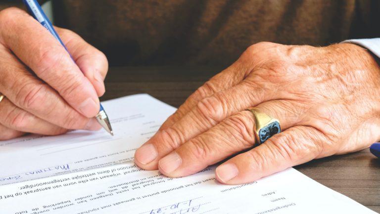 Signing estate plan documents